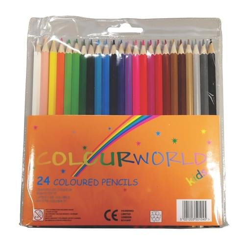Colourworld Super Saver Colouring Pencils Wallet of 24
