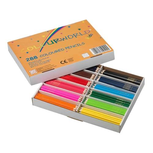 Colourworld Super Saver Colouring Pencils Assorted Classpack of 288