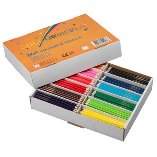 Colourworld Super Saver Colouring Pencils Assorted Classpack of 504