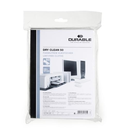 Durable Dry Clean Multi-surface Cleaning Cloths Pk50