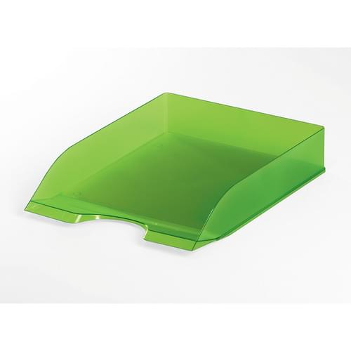 Durable Translucent Letter Tray Light Green