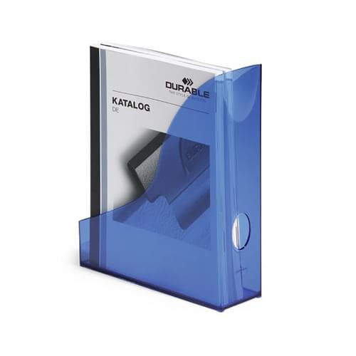 Durable Translucent Magazine File Indigo Blue