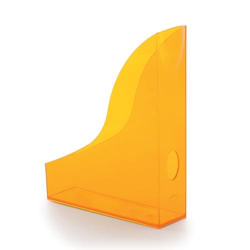Durable Translucent Magazine File Orange