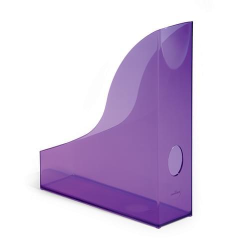 Durable Translucent Magazine File Purple