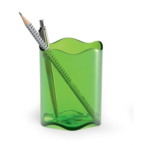Durable Translucent Pen Cup Light Green