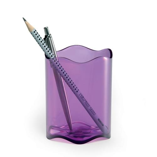 Durable TREND Pen Pot Translucent Pink Pk6