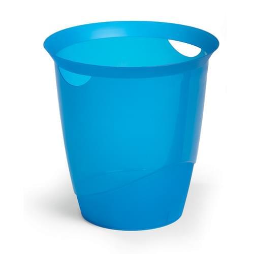 Durable Translucent Waste Basket Indigo Blue
