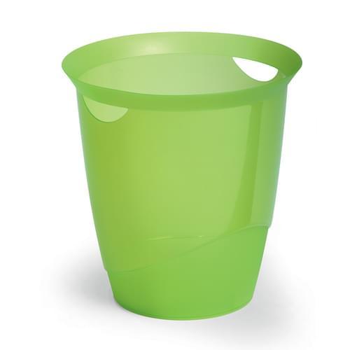 Durable Translucent Waste Basket Light Green