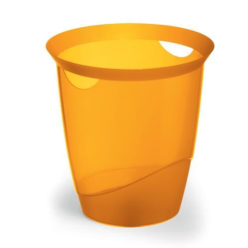 Durable Translucent Waste Basket Orange