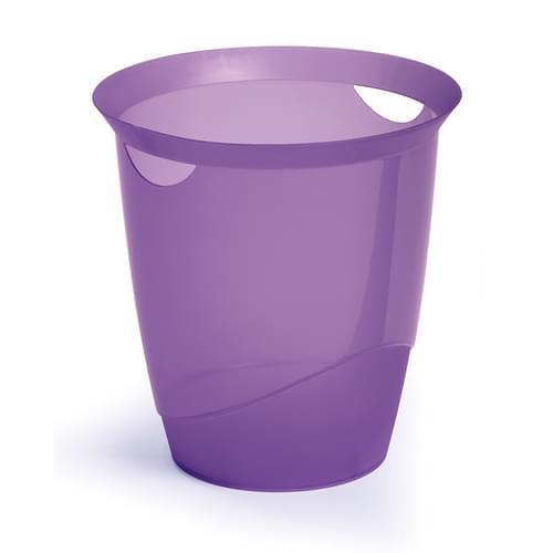 Durable Translucent Waste Basket Purple