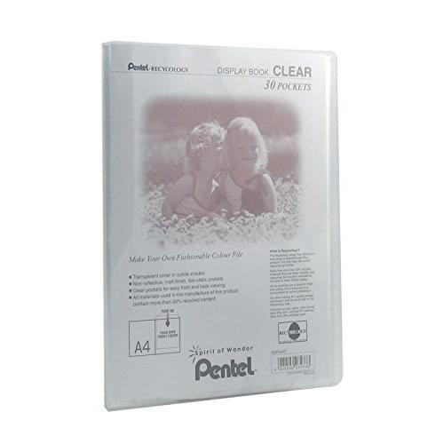 Pentel Recycology Clear Display Book A4 30 Pockets Transparent
