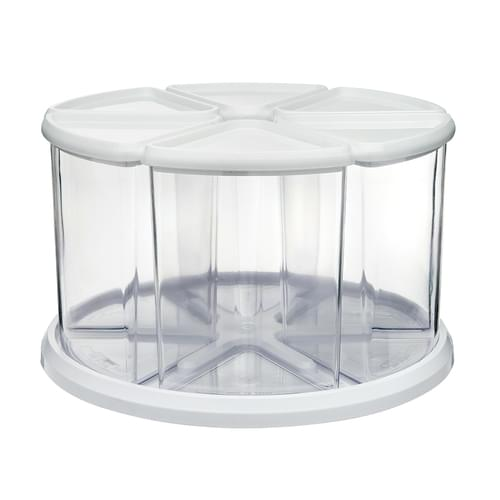 Deflecto 6 Tub Storage Carousel Organiser White