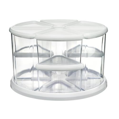 Deflecto 9 Tub Storage Carousel Organiser White