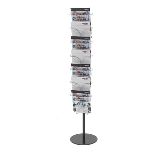 Chrome Wire 7 Pocket Literature Floor Stand