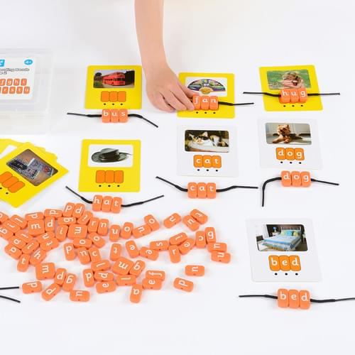 Systematic Phonics Lacing Beads CVC Set