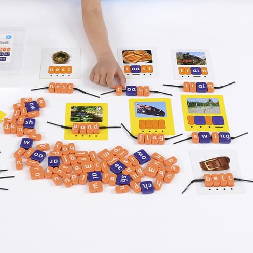 Systematic Phonics Lacing Beads CVCC CCVC Set