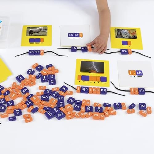 Systematic Phonics Lacing Beads Phase 3 Letters & Graphemes Set