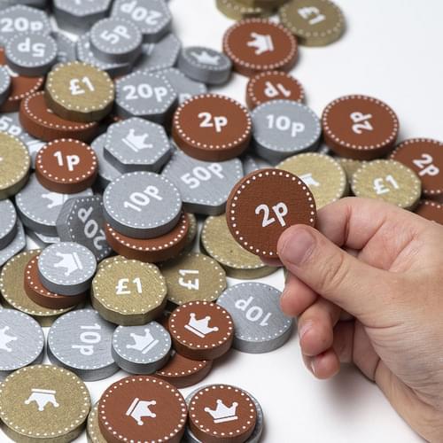 Wooden Play Money