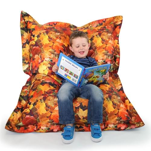 Learn About Nature Autumn Leaves Floor Cushion