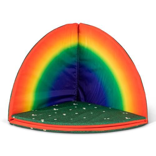 Indoor/Outdoor Rainbow & Daisy Folding Floor Mat