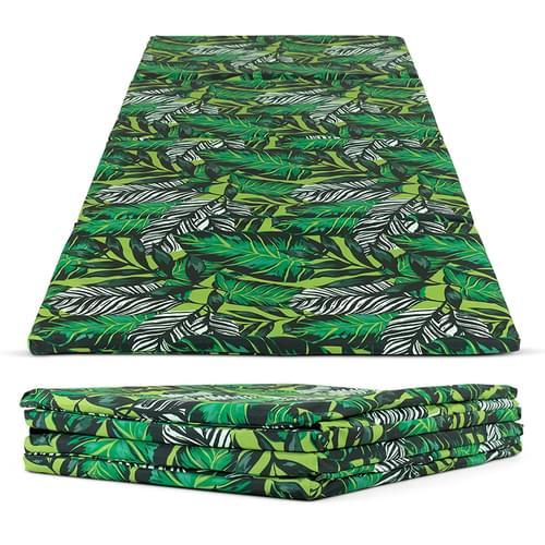 Indoor/Outdoor Jungle Print Rectangular Folding Mat Set
