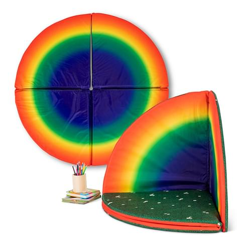 Indoor/Outdoor Rainbow & Daisy Folding Floor Mat Set