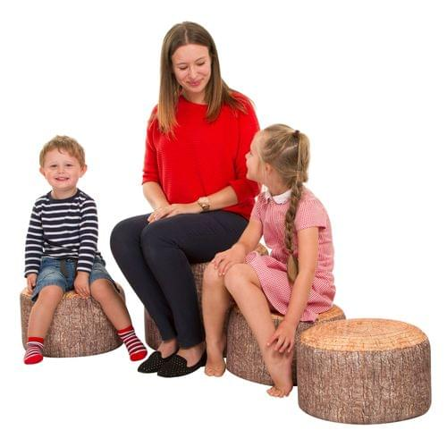 Learn About Nature Tree Stump Stool 4 Piece Set