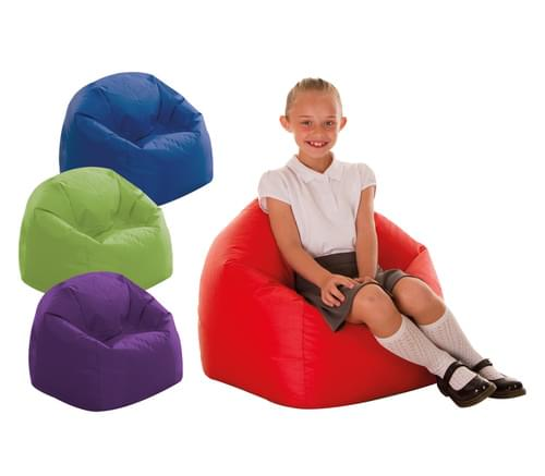 Set of 4 Brights Primary Bean Bags