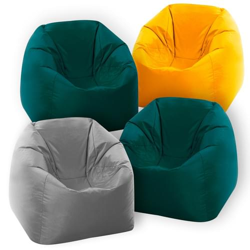 Set of 4 Naturals Primary Bean Bags