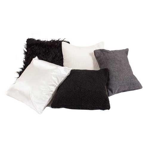 Pack of 5 Sensory Cushions - Black & White