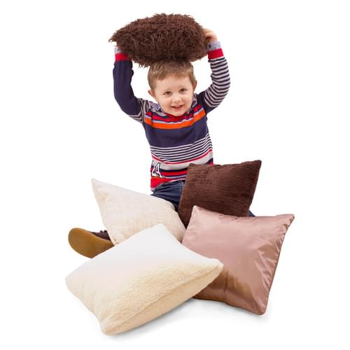 Pack of 5 Sensory Cushions - Natural