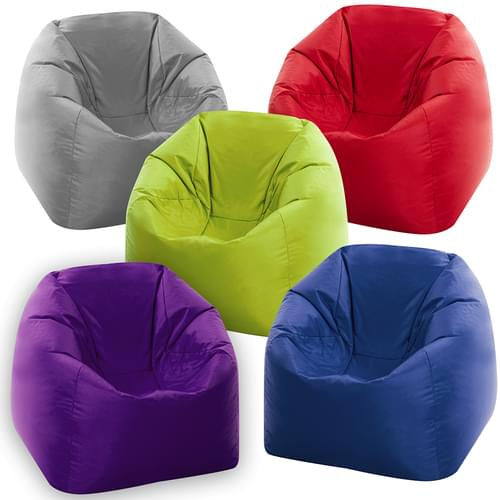 Set of 5 Brights Student Bean Bag Chairs