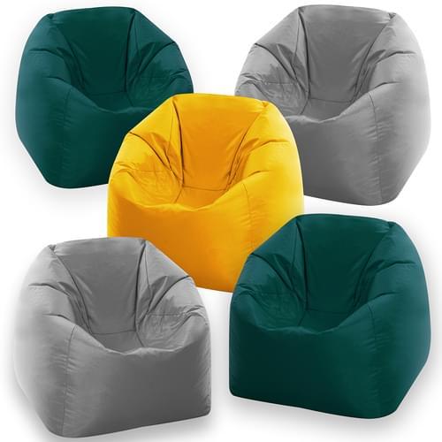 Set of 5 Naturals Student Bean Bag Chairs