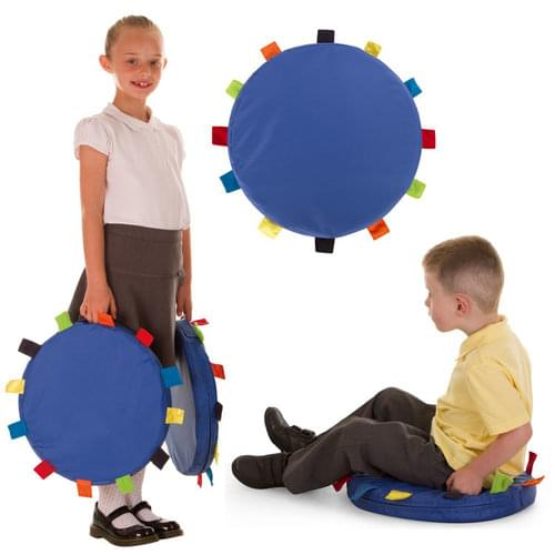 Pack of 6 Sensory Touch Tags Carry Cushions