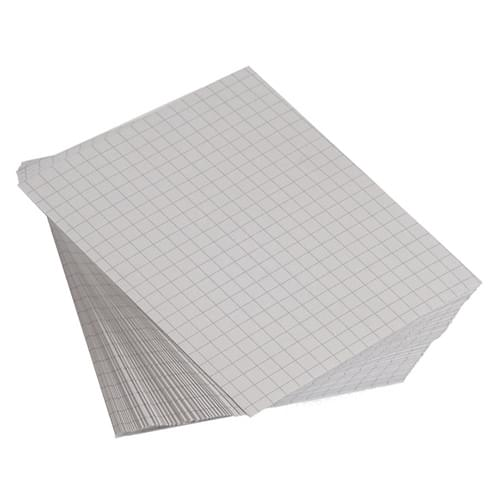 9x7in Unpunched Exercise Paper 10mm Squares 1 Ream