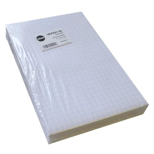 A4 Unpunched Exercise Paper 10mm Squares 5 Reams