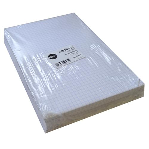 A4 Unpunched Exercise Paper 7mm Squares 5 Reams