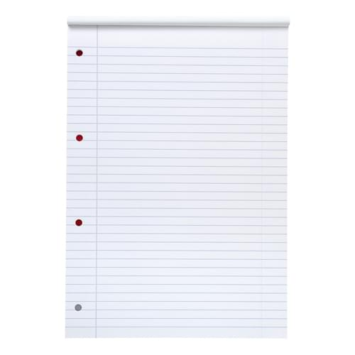 Super Saver A4 Refill Pad 4 Hole Narrow Ruled & Margin