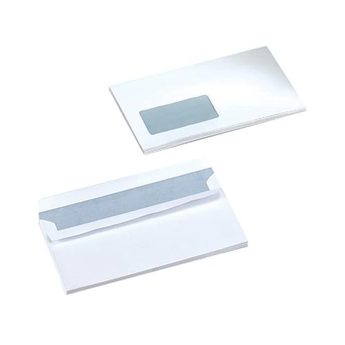Super Saver 90gsm DL Window White Envelopes