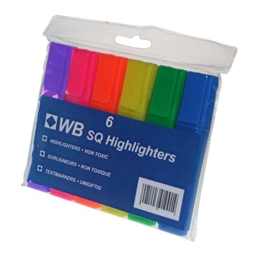 Super Saver Highlighters Assorted Wallet of 6