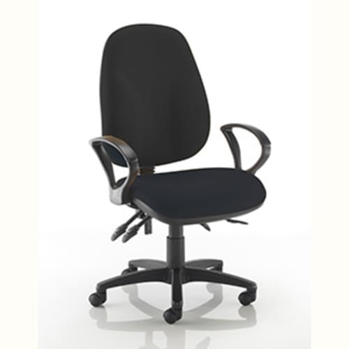 Ergochair High Back Chair with Fixed Arms - Charcoal