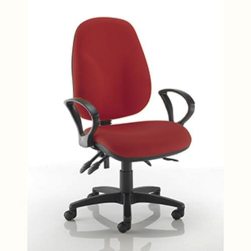 Ergochair High Back Chair with Fixed Arms - Claret