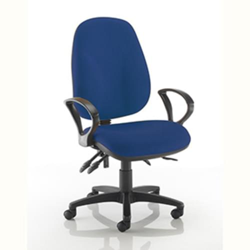 Ergochair High Back Chair with Fixed Arms - Royal Blue