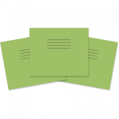 Rhino 5.25x6.5in 133x165mm Infant Books 10mm Squares Light Green 24 Pages