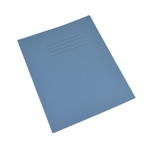 Rhino 8x6.5in Exercise Books 8mm Ruled & Margin Light Blue 80 Pages