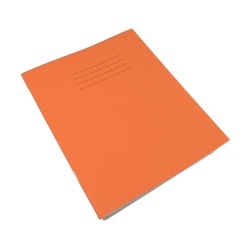 Rhino 8x6.5in Exercise Books 8mm Ruled & Margin Orange 80 Pages