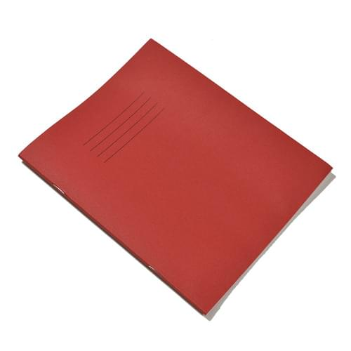 Rhino 8x6.5in Exercise Books 8mm Ruled & Margin Red 80 Pages