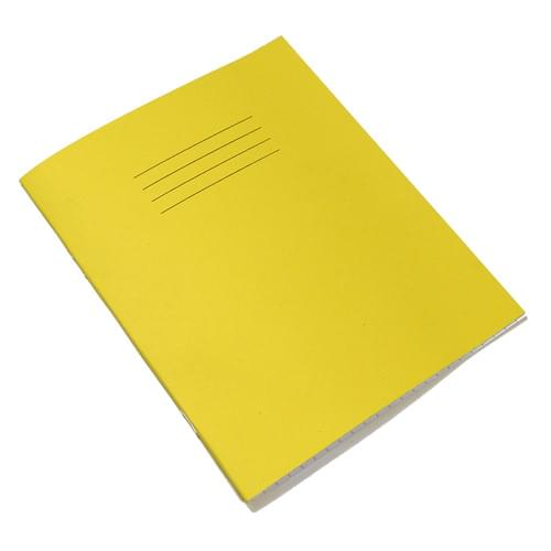 Rhino 8x6.5in Exercise Books 8mm Ruled & Margin Yellow 80 Pages