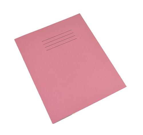Rhino 8x6.5in Exercise Books Plain Unruled Pink 80 Pages