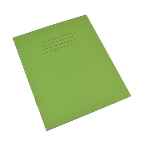 Rhino 8x6.5in Exercise Books 8mm Ruled & Margin Light Green 80 Pages